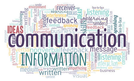 Communication word cloud isolated on a white background. Illustration