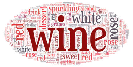 Wine word cloud isolated on a white background. Vecteurs