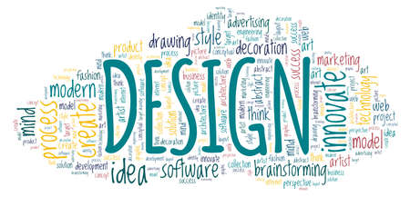 Design illustration word cloud isolated on a white background.