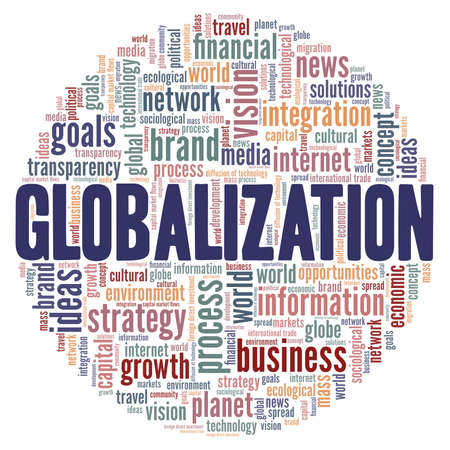 Globalization vector illustration word cloud isolated on a white background.