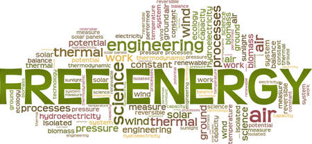 Free energy vector illustration word cloud isolated on a white background. Illustration