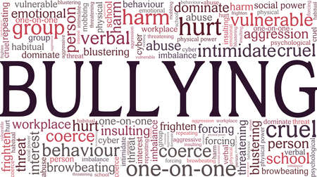Bullying vector illustration word cloud isolated on a white background. Ilustracje wektorowe