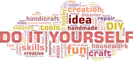 Do it yourself - DIY vector illustration word cloud isolated on a white background.