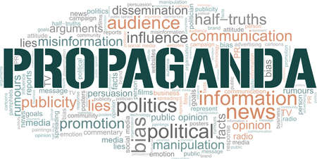 Propaganda vector illustration word cloud isolated on a white background.