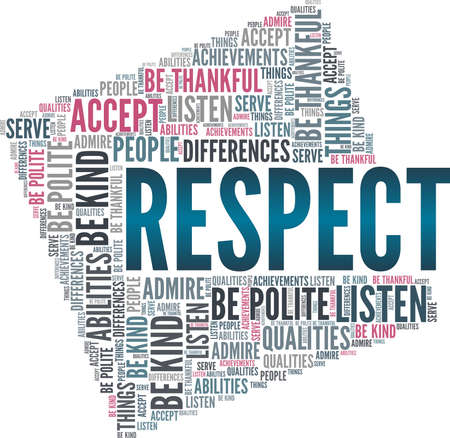 Respect vector illustration word cloud isolated on a white background.