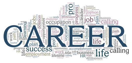 Career vector illustration word cloud isolated on a white background.