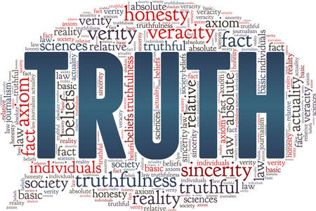 Truth vector illustration word cloud isolated on a white background. Ilustrace
