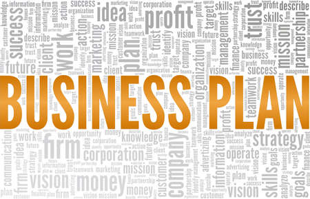 Business plan vector illustration word cloud isolated on a white background.