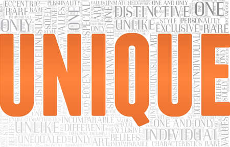Unique vector illustration word cloud isolated on a white background.