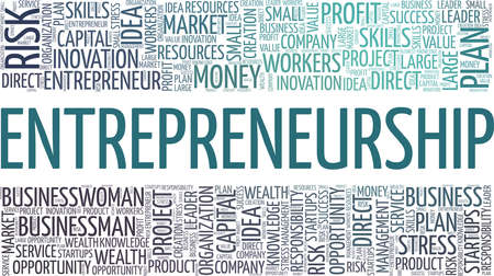 Entrepreneurship vector illustration word cloud isolated on a white background.