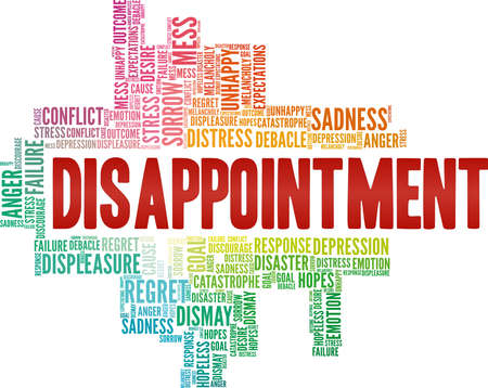 Disappointment vector illustration word cloud isolated on a white background.