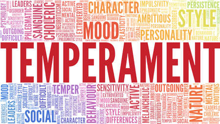 Temperament vector illustration word cloud isolated on a white background.