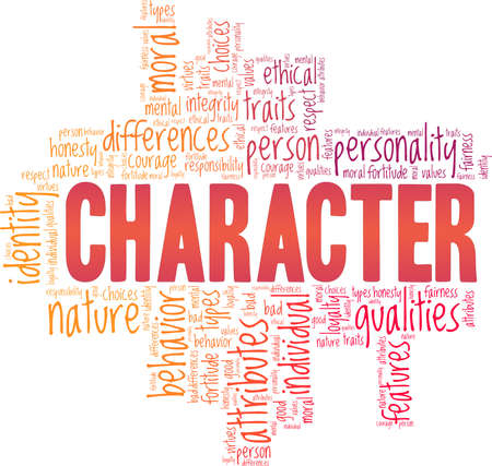 Character vector illustration word cloud isolated on a white background.