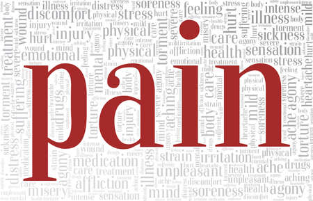 Pain vector illustration word cloud isolated on a white background.