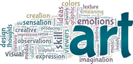 Art vector illustration word cloud isolated on a white background.