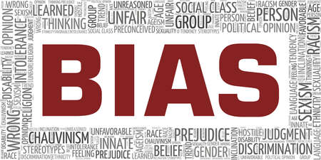 Bias vector illustration word cloud isolated on a white background. Vecteurs