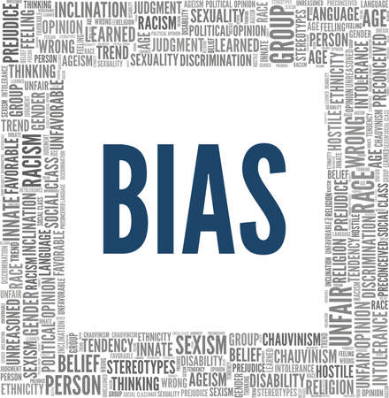 Bias vector illustration word cloud isolated on a white background. Vektorové ilustrace
