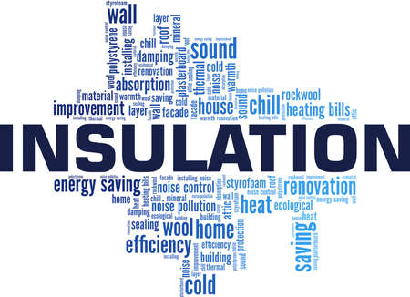 Insulation vector illustration word cloud isolated on a white background.