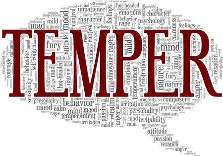 Temper vector illustration word cloud isolated on a white background.