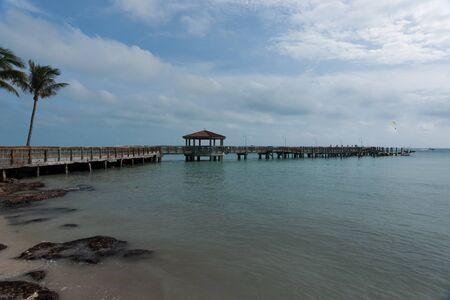 Pier extending into the ocean