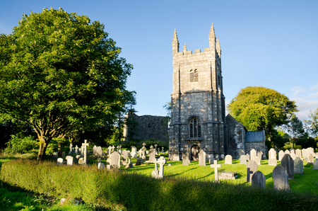 LYDFORD, DEVON. 13th August 2016. The village church at Lydford is dedicated to the Celtic St Petroc, and is the site of the Watchmakers Tomb.