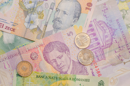 leu: ROMANIA, 9th DECEMBER 2016. The Romanian government has established a committee to produce a new timetable for the countrys adoption of the Euro. Until such time as this happens the current currency - the Romanian Leu - will continue to be used.