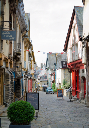 VITRE, FRANCE. August 28th 2017. The charming mediaeval streets of Vitré pull increasing numbers of tourists into the Breton town. Editorial