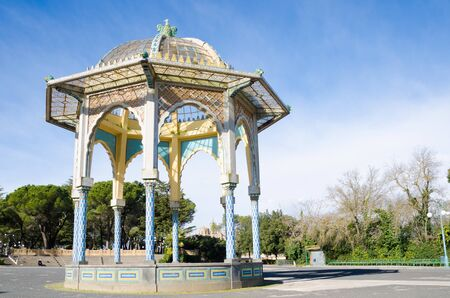 CALTAGIRONE, SICILY, ITALY. 4th January 2019. The town of Caltagirone is famed for its pottery and the Public Gardens containing the lovely, Moorish-influenced bandstand with its majolica embellishments helps to illustrate why.