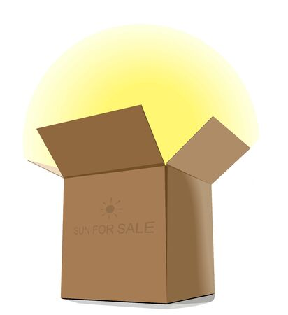 Gift. Sun for sale. Vector. Vector