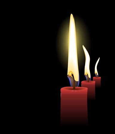 looking through an object: Realistic Vector Christmas Candles