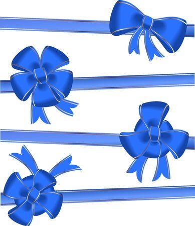 Christmas bow decoration - vector Vector