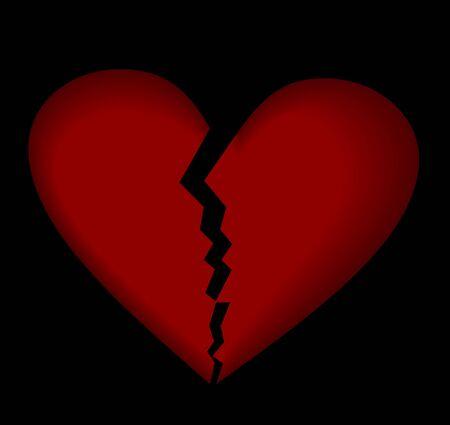 Broken heart. Vector. Vector