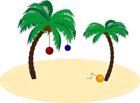 Navidad palm. Vector. Stock Vector - 6064366