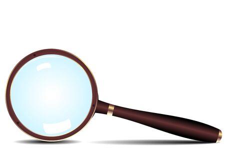 scrutiny: Icono de la lupa - vector