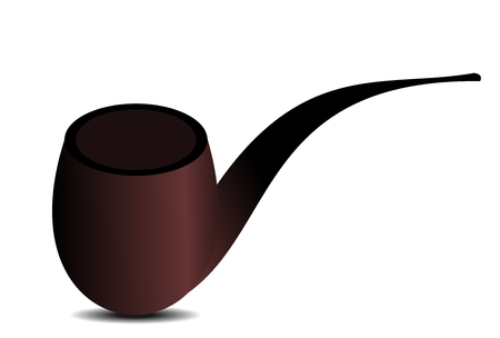 smoking pipe: Tube tobacco. Vector. Illustration