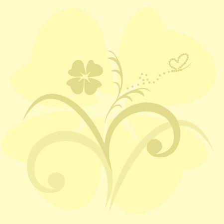 Cute flowers background - vector Vector