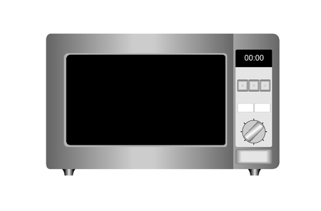 Vector illustration of microwave oven isolated on white background. Vector