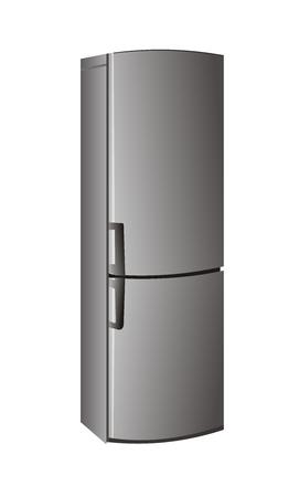 refrigerate: Refrigerador realista - vector