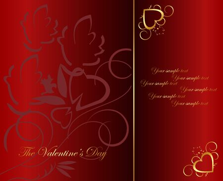 The Valentine's day. Vector Stock Vector - 6209345