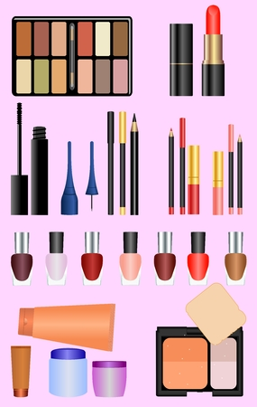 Professional make up set. Vector Stock Vector - 6209346