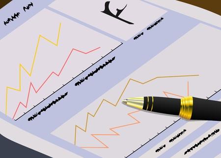 risico analyse: De overheidsfinanciën krant voor handelaren - vector