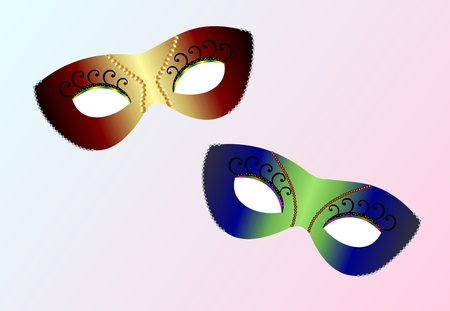Vector realistic carnaval masks Vector