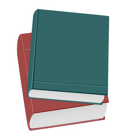 stack of documents: Realistic illustration two books