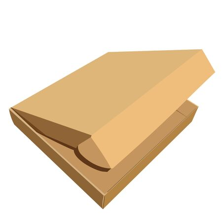 shoping bag: Realistic illustration of box Illustration