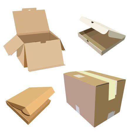 closed box: Realistic illustration of box Illustration
