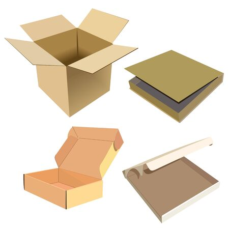 Realistic illustration of box Illustration