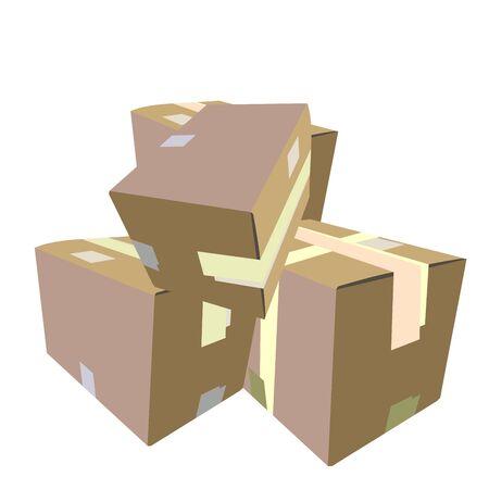 closed box:  Realistic illustration of box