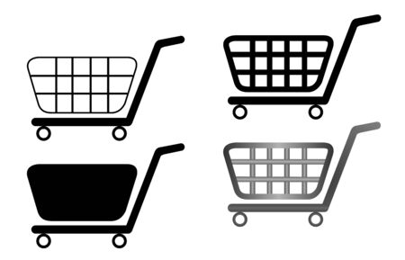 illustration of shopping carts are isolated on white background Stock Vector - 6582218