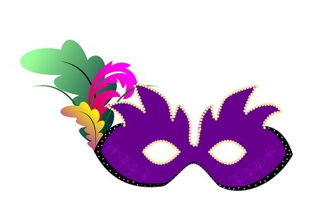 new orleans:  carnival mask or theater.  Illustration