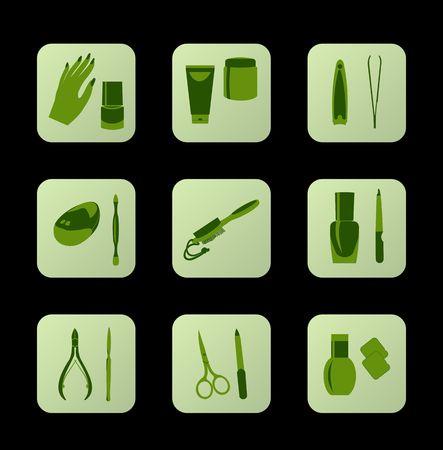 Cosmetic icons. Vektoros illusztráció